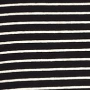 Layering Tees for Women: Black/Ivory New Directions Weekend Mini Stripe Long Sleeve Rib Tee