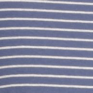 Layering Tees for Women: Blue/Tan New Directions Weekend Mini Stripe Long Sleeve Rib Tee