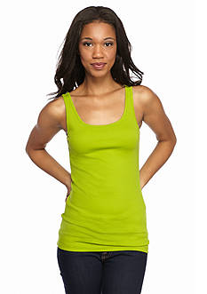 New Directions Weekend EDV Ribbed Tank