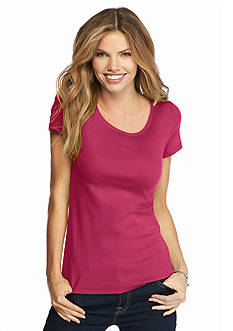 New Directions Weekend EDV Solid Ribbed Tee