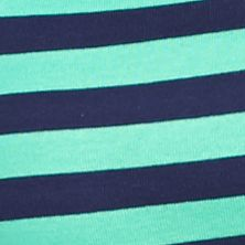 Layering Tees for Women: Green Aloe / Nitecap Navy New Directions Weekend EDV Ribbed Stripe Tee