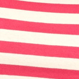 Layering Tees for Women: Mosaic Pink / Stone New Directions Weekend EDV Ribbed Stripe Tee
