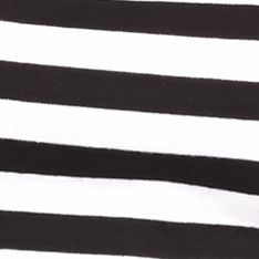 Layering Tees for Women: Black/White New Directions Weekend EDV Ribbed Stripe Tee