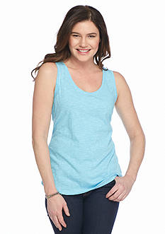 New Directions Weekend Solid Core Slub Tank