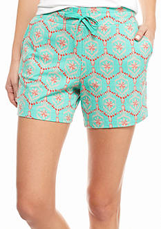 New Directions Weekend Printed Drawstring Short