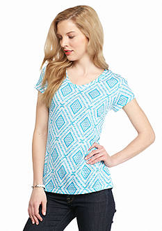 New Directions Weekend Core Slub Tribal Diamond Tee
