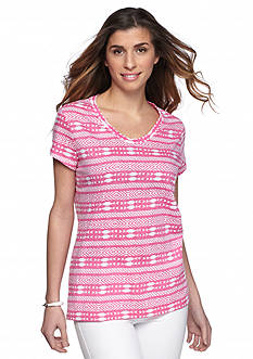 New Directions Weekend Aztec Core Slub Tee