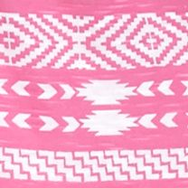Layering Tees for Women: Pink New Directions Weekend Aztec Core Slub Tee