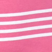 Womens Tees: Prism Pink / White New Directions Weekend EDV Ribbed Surf Stripe Tee
