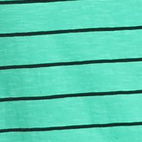 Casual Dresses: Green / Black New Directions Stripe Swing Tee Dress