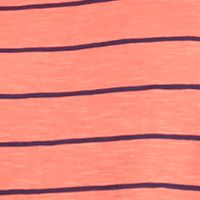 Casual Dresses: Coral / Navy New Directions Stripe Swing Tee Dress