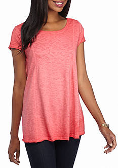 New Directions Solid Trapeze Top