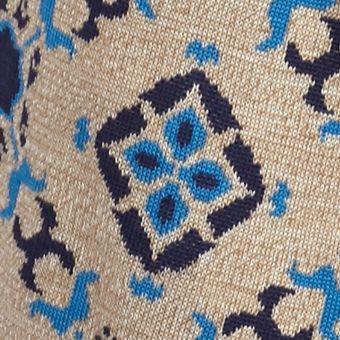 Women: Vest Sale: Turq Medal New Directions Reversible Jacquard Fringe Vest