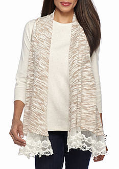 New Directions Weekend Lace Hem Vest