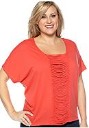 New Directions® Weekend Plus Size Short Sleeve Dolman Top
