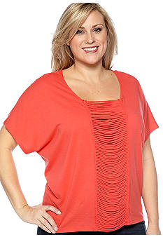 New Directions Weekend Plus Size Short Sleeve Dolman Top