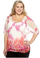 New Directions® Weekend Plus Size Sheer Blouse