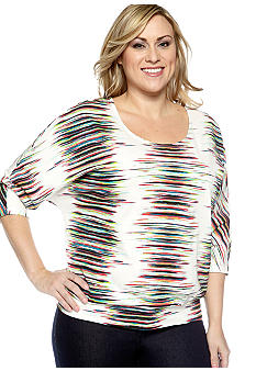 New Directions Weekend Plus Size Knit Dolman Sleeve Top