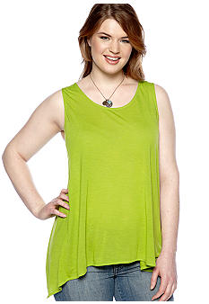 New Directions Weekend Plus Size Shark Bite Tank Top