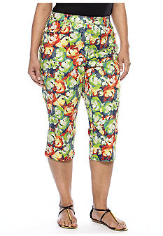 New Directions Weekend Plus Size Stud Capri