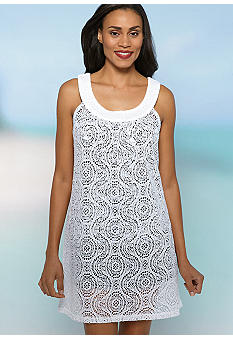 New Directions Mesh U-Neck Cover-Up