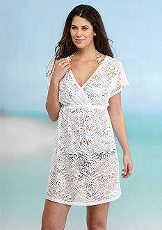 New Directions Crochet Mesh Cover Up