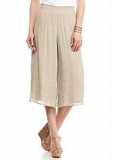 New Directions Solid Gauze Gaucho Pant