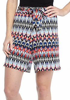 New Directions Multi Stripe Sash Shorts