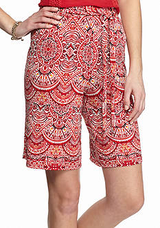 New Directions Medallion Sash Shorts