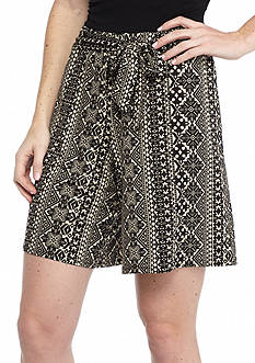 New Directions Aztec Stripe Sash Shorts