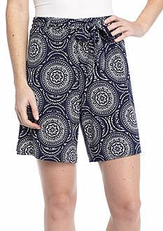 New Directions Medallion Sash Shorts