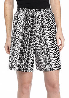 New Directions Diamond Stripe Sash Shorts