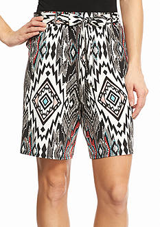 New Directions Large Aztec Sash Shorts