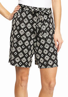 New Directions Small Diamonds Sash Shorts