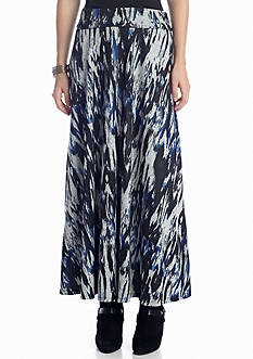 New Directions® Blurred Tribal Print Maxi Skirt