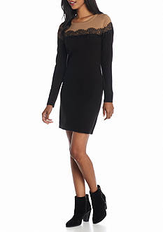 New Directions Colorblock Sweater Dress