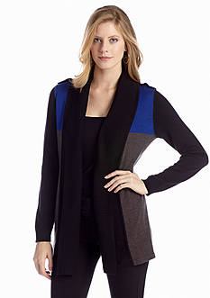 New Directions® Color Block Cardigan