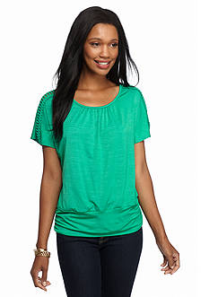 New Directions Ladder Shoulder Malone Dolman Top