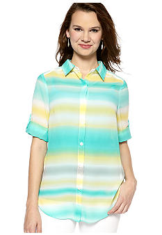 New Directions Stripe and Dot Top
