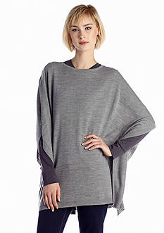 New Directions® Solid Poncho Top