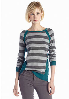 New Directions® Stripe Color Block Sweater