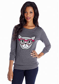 New Directions® Nerdy Cat Sweater