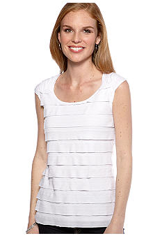 New Directions Shirred Cap Sleeve