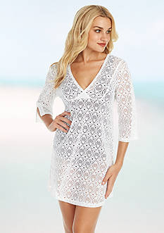 Jantzen Crochet Tunic Cover Up