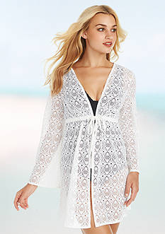 Jantzen Crotchet Open Tunic Cover Up