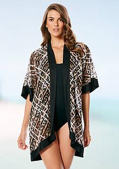 Jantzen Animale Kimono Cover Up