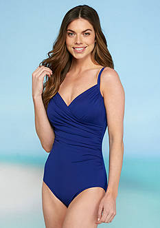 Jantzen Solid Surplice One Piece