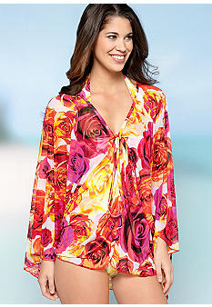 Jantzen Rose Tunic Cover Up