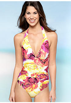Jantzen Rose Parade Halter One Piece Swim Suit
