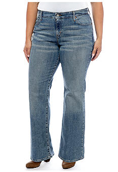 Levi's Plus Size 580 Defined Waist Boot Cut in Desert Sky